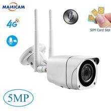 5mp wifi câmera ip ao ar livre 3g 4g sim cartão de vigilância por vídeo à prova dwaterproof água cctv segurança ir visão noturna p2p cartão sd áudio em dois sentidos