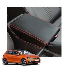 LFOTPP podłokietnik samochdoowy pokrywa skrzynki dla Polo MK6/Ibiza Typ 6F/Arona SUV 2018 2019 2020 centralny zamek samochodu schowek w podłokietniku pudełko na waciki