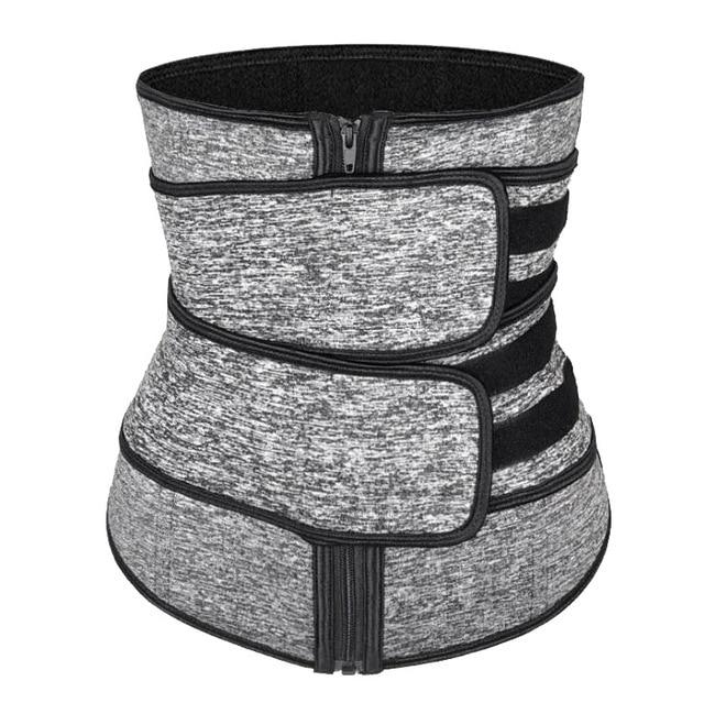 Hot Sweat Waist Trainer Slimming Fine-Tuning Zipper Belt Shaping Machine Shaping Exercise Solid Belt