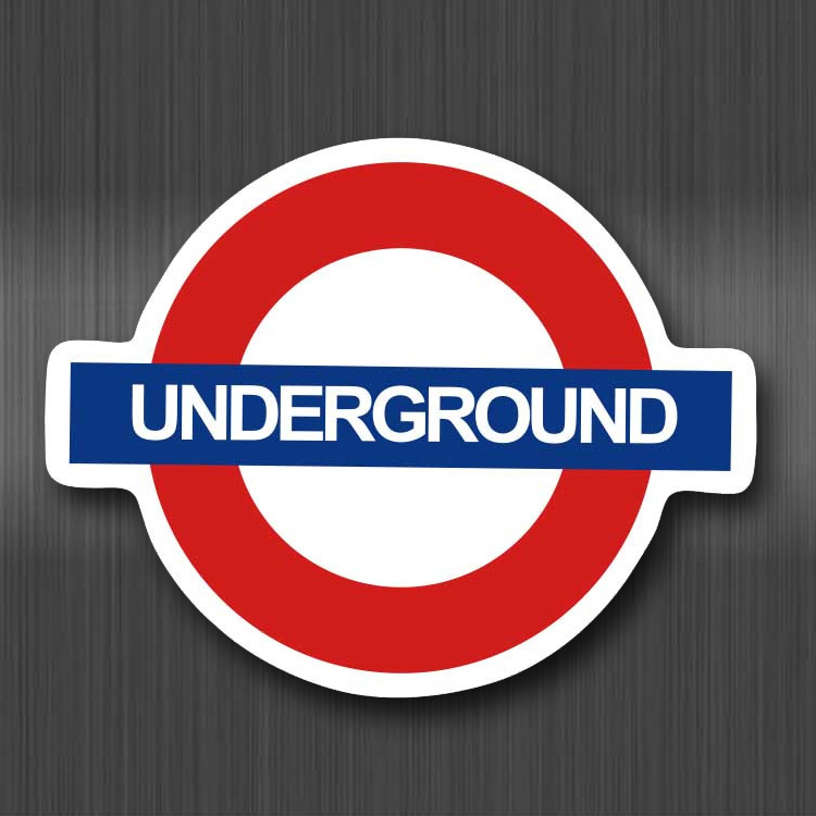 A0117 Underground British Subway Waterproof Sticker For Cars Cool Laptop Luggage Skateboard Graffiti Notebook Stickers