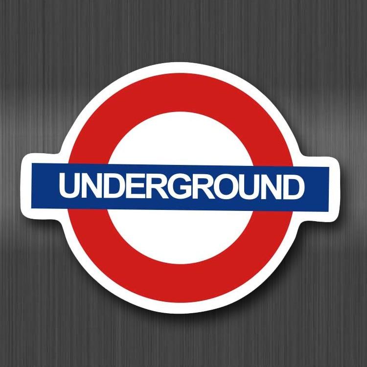 A0117 Underground British Subway Waterproof Sticker For Cars Cool Laptop Luggage Skateboard Graffiti Notebook Stickers