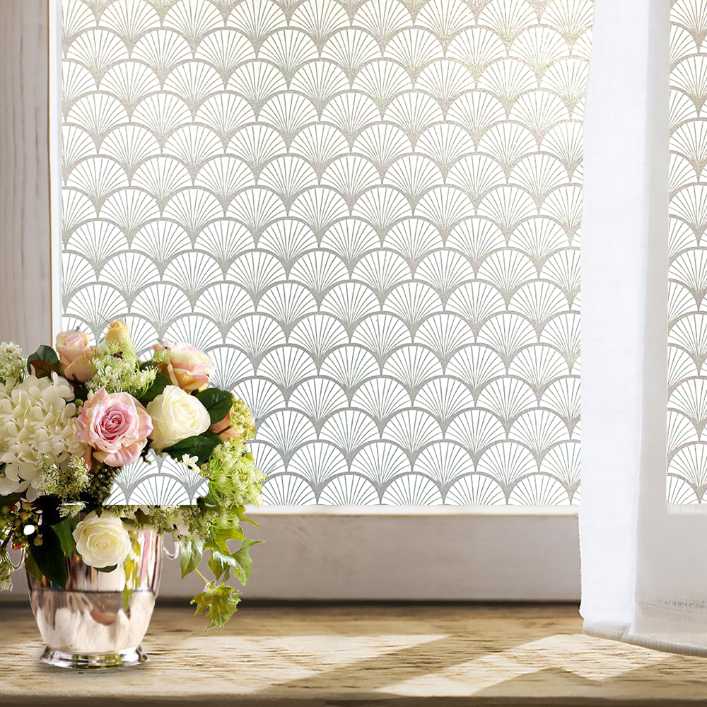 New 3D Matte Window Film Stained Glass Decorative Uv Vinyl Sticker Frosted Self Adhesive Film Privacy Window Decal for Bathroom 4