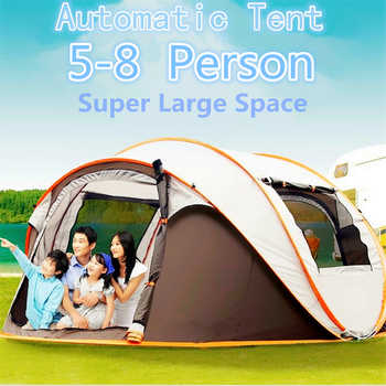 4-6 Person 290*200*130cm Waterproof Windproof Large Camping throw Tents Automatic Tents Climbing Hiking Hot 2018 New ANTI-UV - SALE ITEM - Category 🛒 Sports & Entertainment