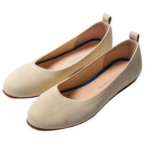 Image 2 - 여성 플랫 슈즈 Zapatos De Mujer 가을 2019 라운드 플랫 슈즈 로퍼 발레리나 Femme Tenis Feminino 캐주얼 블랙 레이디스