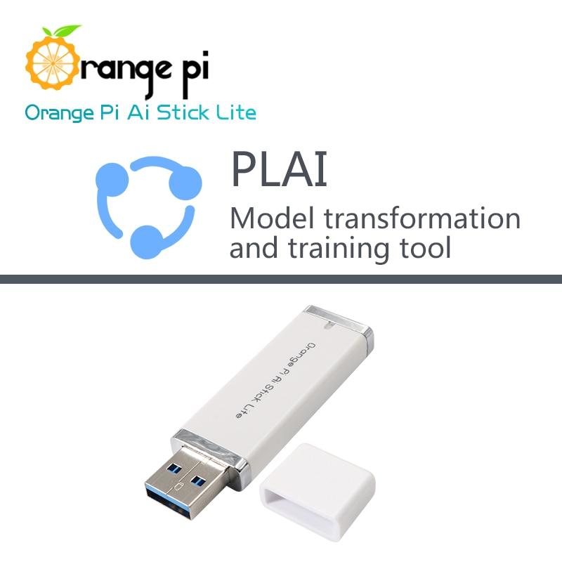 Orange Pi AI Stick Lite with PLAI Model Transformation Tools Neural Network Computing Stick Artificial IntelligenceDemo Board   -