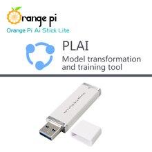 Pomarańczowy Pi AI Stick Lite z narzędziami transformacji modelu Plai neuronowa sieć obliczeniowa sztuczna inteligencja