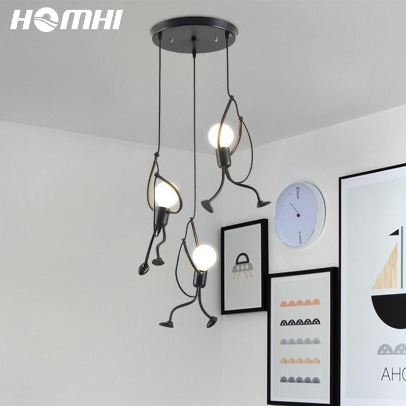 3lightpendantlighting blackpendantlight kids hanging decoracion hogar moderno monkey lamp deco maison design baby room