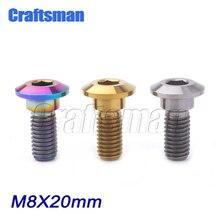 5 個 M8 * 20 titanium ボルト titanium モーターバイクリアブレーキローターディスクボルトネジ M8x20mm ヤマハモーターバイクアクセサリー