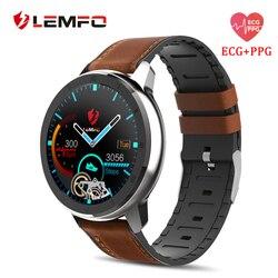 LEMFO ELF2 ЭКГ PPG Смарт-часы Полный сенсорный экран для сердечного ритма Монитор артериального давления водонепроницаемые умные часы для мужчин...