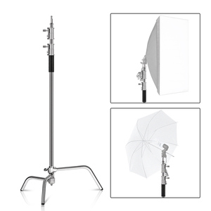 Image 4 - 2.6M/8.5FT Stainless Steel Century Foldable Light Stand Tripod Magic Leg Photography C Stand For Spot Light,Softbox,Photo Studio