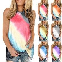 Women T shirt New Summer Sleeveless Print Loose Casual Tank T shirt Female Tops