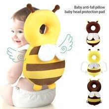 Proteção de cabeça do bebê travesseiro dos desenhos animados infantil-queda travesseiro macio pp algodão criança crianças almofada protetora do bebê cuidado seguro