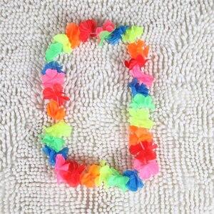 Image 4 - 100pcs/lot hawaii party leis flower wreath garland hawaiian necklace torpil hawai floral farmhouse decor