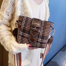 2021 mode nouveau sac de messager sac à main de haute qualité laine femmes sac Plaid carré téléphone sac sac à bandoulière