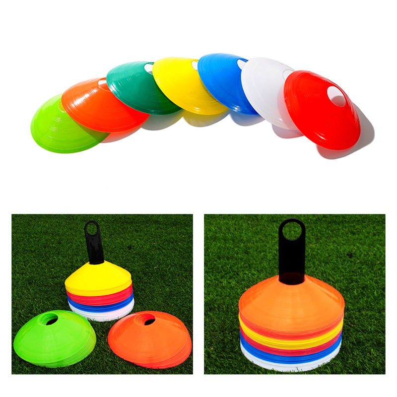 10pcs/set High Quality Soccer Training Sign Dish Pressure Resistant Cone Flying Saucer Plate Marker Discs Marker Bucket