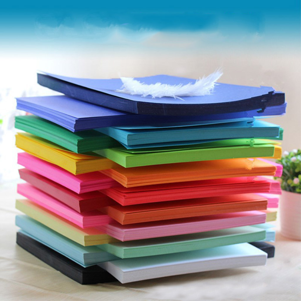 Children's Handmade Paper Color Cardboard Paper cutting tools Origami Tools Diy Handicraft Making Tools Contains 100 sheets 2021