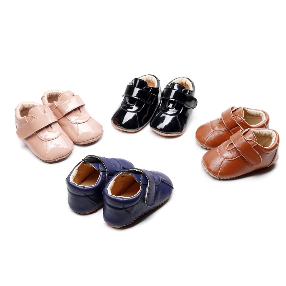 New Arrival Baby Shoes Hard Sole For Girls Boys Newborn Rubber Sole Baby Girl Shoes PU Leather Baby Boys Moccasins Sneaker Shoes
