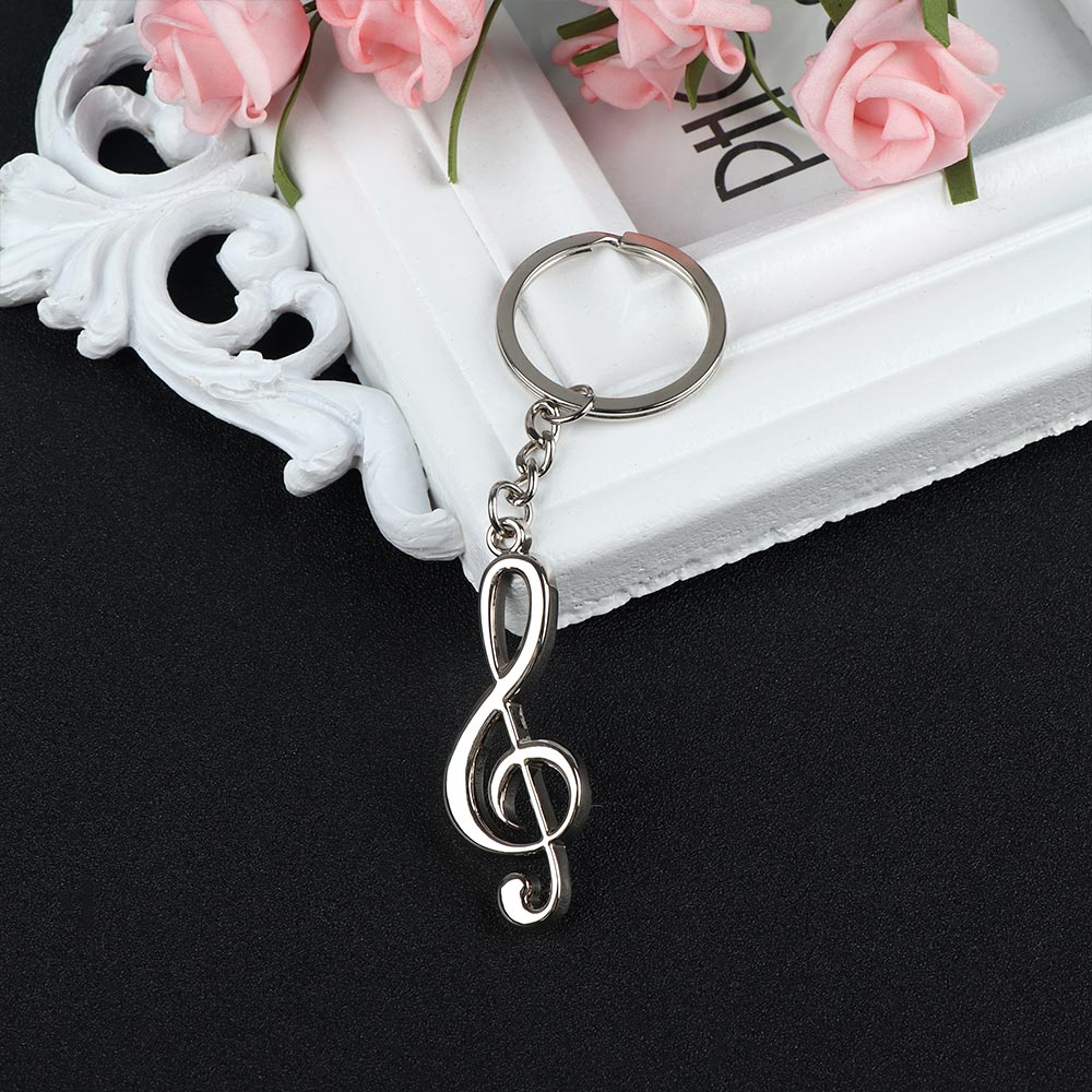 New Arrival Novelty Souvenir Metal Musical Note Key Chain Creative Keychain Key Ring Gifts for Music Student Graduation image