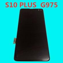 Original AMOLED Mit Schwarz Dot Bildschirm Für samsung Galaxy s10 plus lcd display G975A G975U G975F s10 + lcd display touch montage