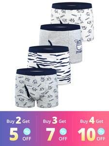 Boxer Briefs Panties Shorts Kids Underwear Teenager Cartoon-Pattern Cotton Children's