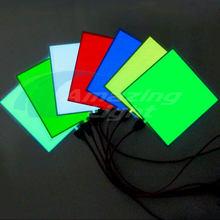 El painel luminoso led brilhante 10*10 cm painel backlight led electroluminescente el retroiluminação com dc3v/dc5v/dc12v inversor