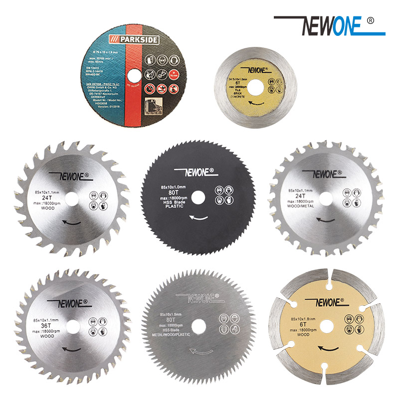 NEWONE Mini Electric Circular Saw Disc,60T/80T TCT Wood Circular Saw Blade Wood Cutting Disc Carbide Disc