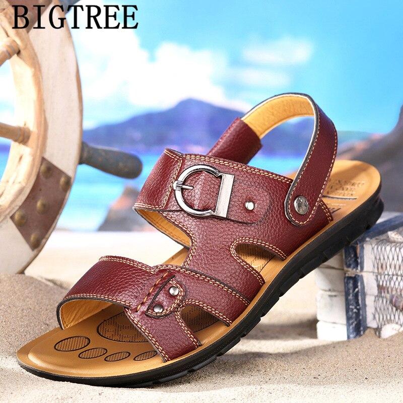 50% preț pantofi de alergare pantofi autentici leather sandals men beach sandals outdoor sandals designer shoes ...