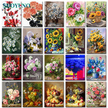 Sdoyuno 40x50 см diy бескаркасные цветы акриловые краски ing