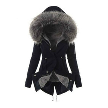 Solid hoody slim jackets coats for women female Thick jacket
