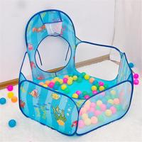 3Pcs Baby Play Tunnel Tent Ball Pool for Children Tipi Tent Pool Ball Pool Pit Baby Tent House Crawling Tunnel Ocean Kids Babies