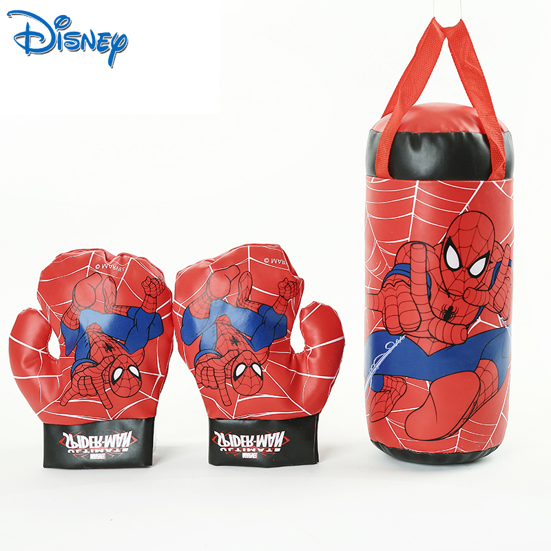Disney store Marvel Spiderman Kids Toy Gloves Sandbag Suit Birthday Gifts Boxing Outdoor Sports Toys