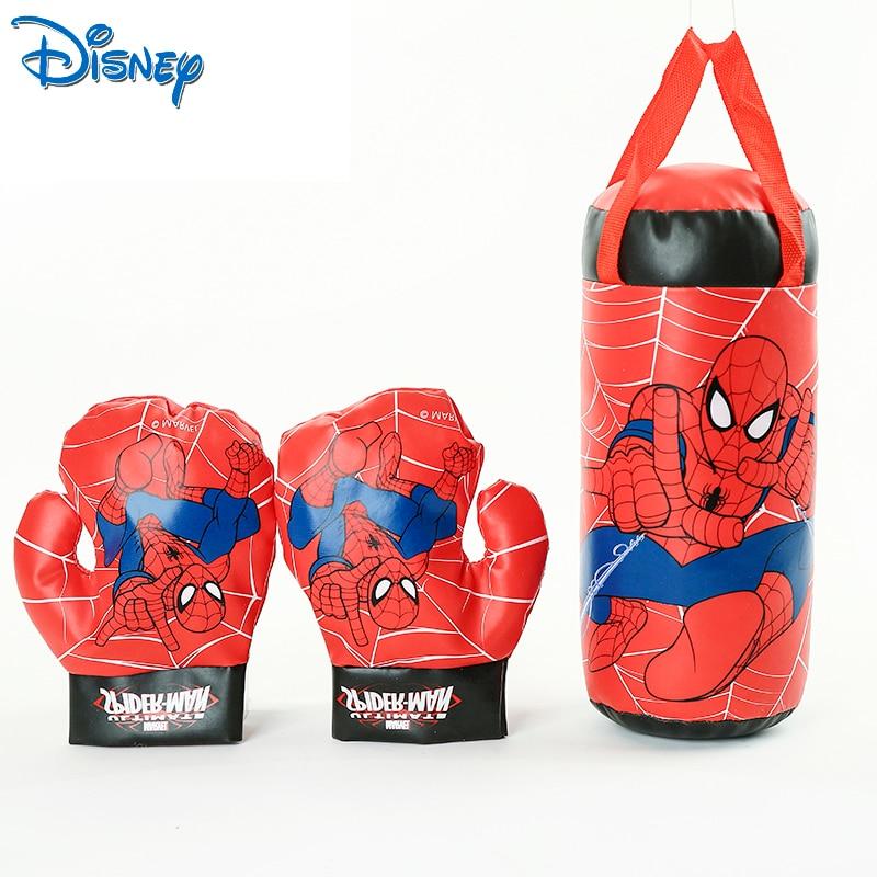 Disney store marvel spiderman crianças brinquedo luvas sandbag terno presentes de aniversário boxe esportes ao ar livre brinquedos para casa