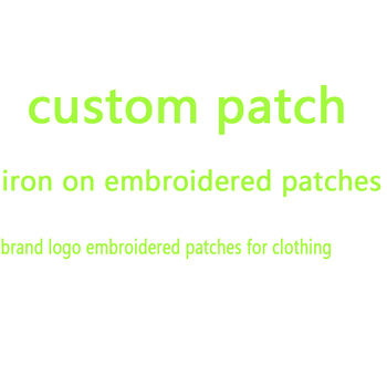 iron on patches for clothing custom embroidered patch brand logo appliques stickers stripes clothes badges