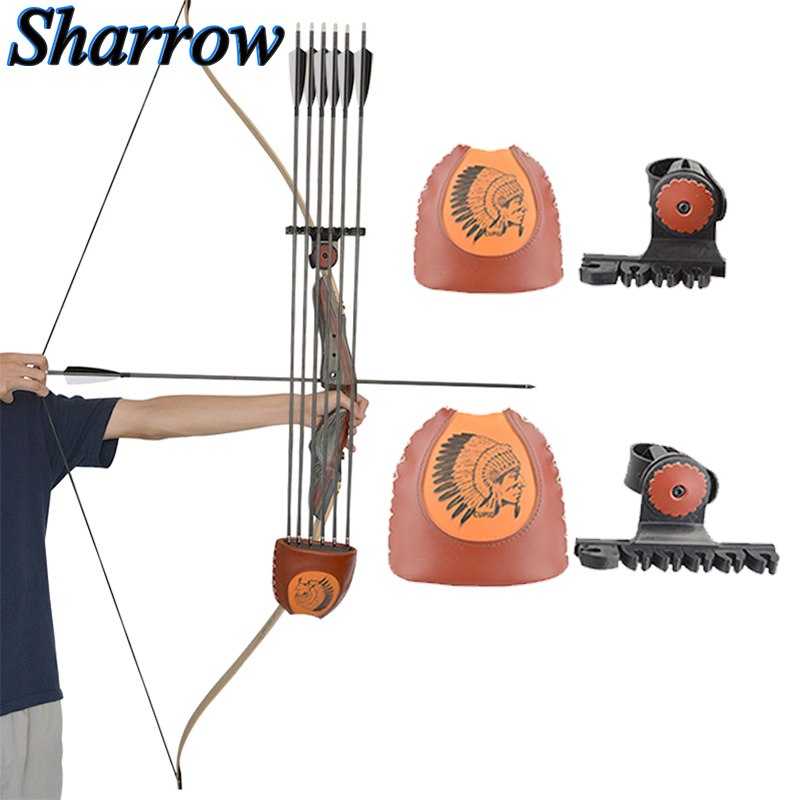 Archery Arrow Quiver 6-Arrows Deadlock Lite Arrow Quiver Rest No Arrows Shooting Recurve Bow Hunting Portable Bow Accessories