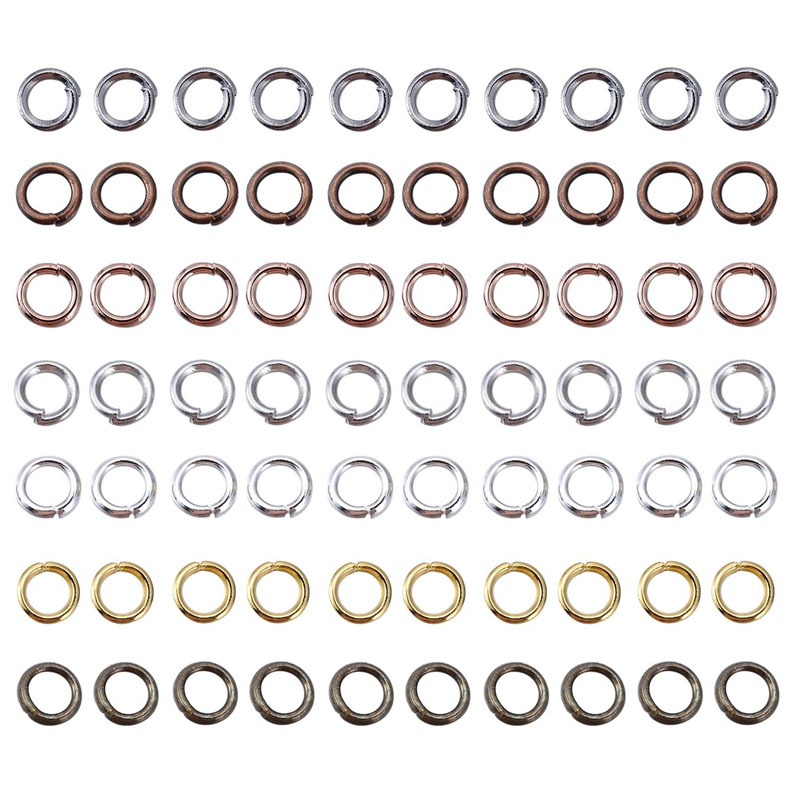 1000Pcs 3-12mm Metal Jewelry Findings Open Single Loops Jump Rings & Split Ring For Jewelry Making DIY Handmade Accessories