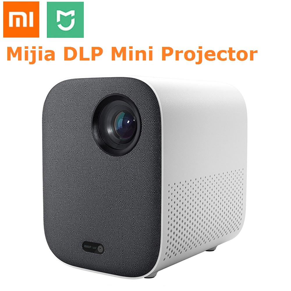 Xiaomi Mijia Mini Projector DLP Portable 1080P 500ANSI Support 4K Video 3D WIFI Proyector LED Beamer TV Full HD For Home Theater