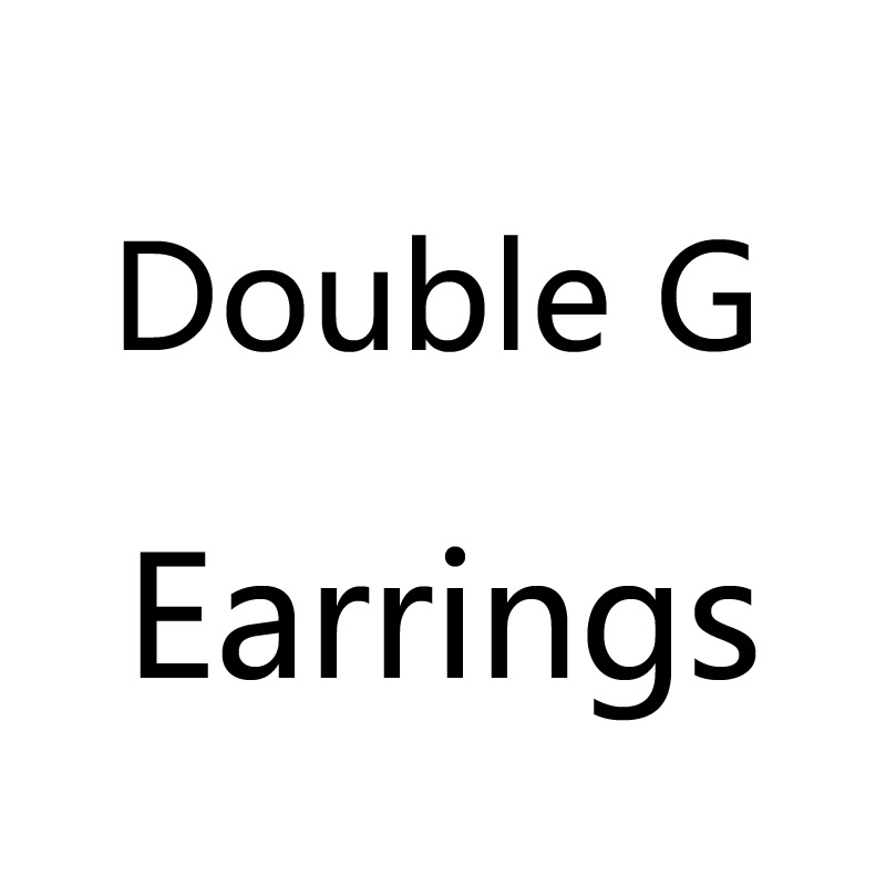 S925 Double Letter G Trendy Asymmetrical Geometric Rhinestone Crystal Statement Earrings For Women Jewelry Accessories 4.2