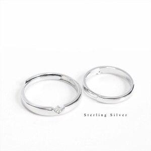Image 3 - ZOBEI בציר 925 סטרלינג כסף צלב פתיחת טבעות עבור rCouple נשים חתונת תכשיטי גדול מתכוונן עתיק טבעות Anillos