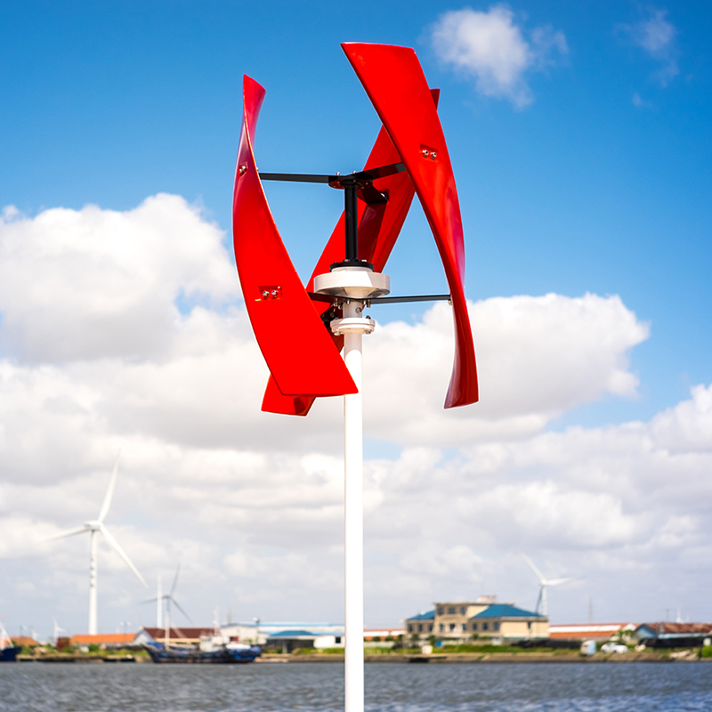 R&X CE 400w Bright Red Wind Turbine Energy Generator Maglev Vertical Axis New X Model or white wind turbine optional Noiseless