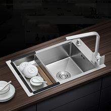 20 калибра 304 кухонная раковина из нержавеющей стали с боковой