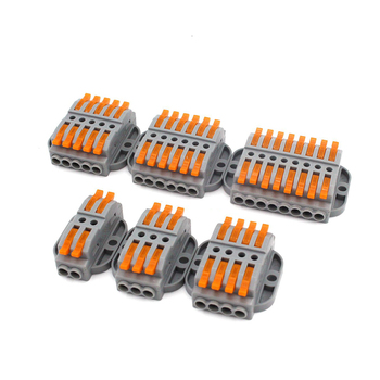 цена на Wire Connector 222-412 413 223 Pin Docking Fast Universal Compact Conectors Wiring Conductor Push-in Terminal Block LED Conector