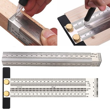 180-400mm Woodworking Scribe T-type Ruler Hole Scribing ruler woodworking crossed-out tool Marking Gauge Measuring Tool
