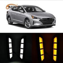 2Pcs LED Daytime Running Fog Lamp For Hyundai Elan