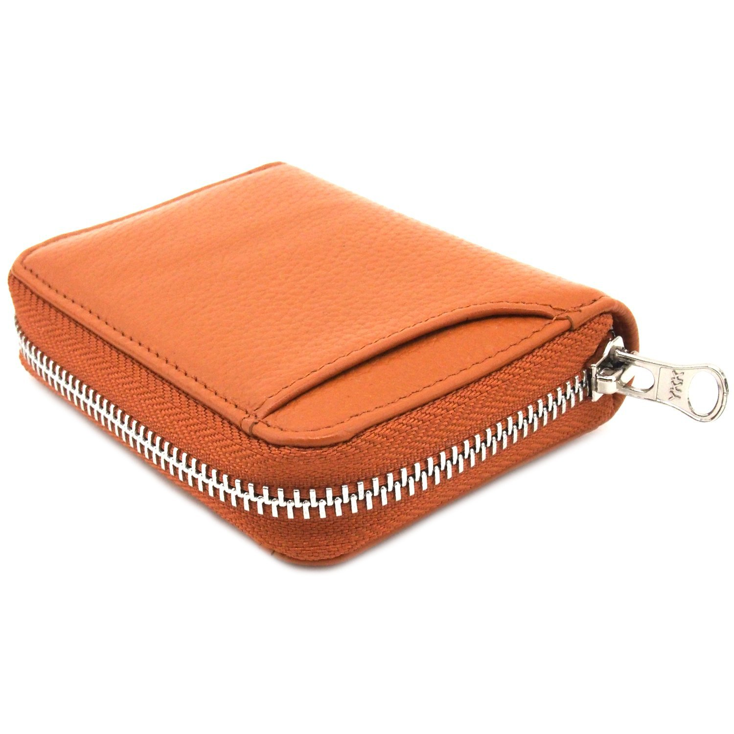 Full-grain Leather Embossed Leather Purse Japan Zipper Genuine Leather Purse Large Capacity Universal Coin Wallet