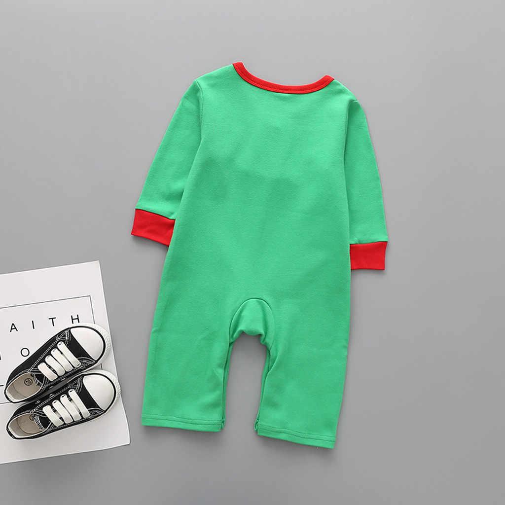 Navidad bebé recién nacido Ropa monos bebés para niños invierno mono комбинезон детский pijamas de dibujos animados mono #4