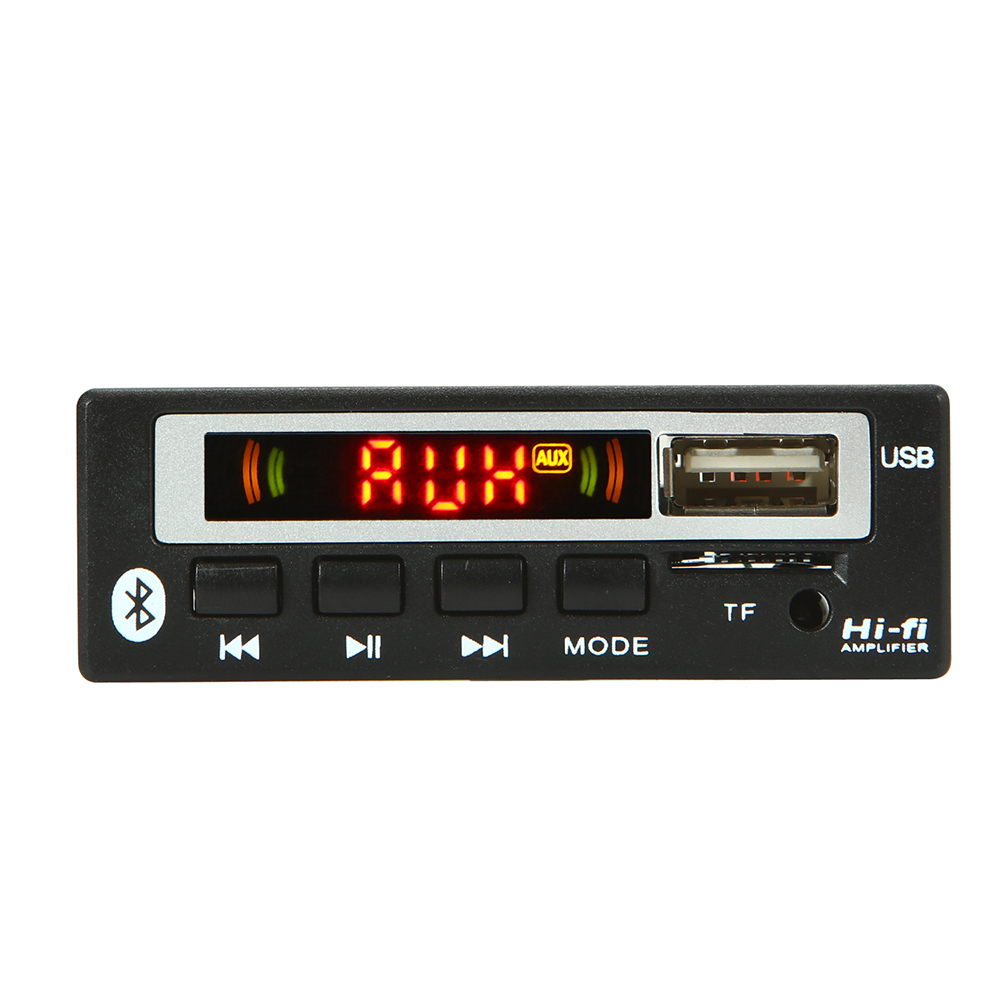 USB MP3 Decoder Board 12V Car Stereo Hands-Free Call Bluetooth Recording Module 7~12V Wireless USB TF AUX FM Radio Amplifier Remote Digital Display Support MP3// USB//TF Card Function