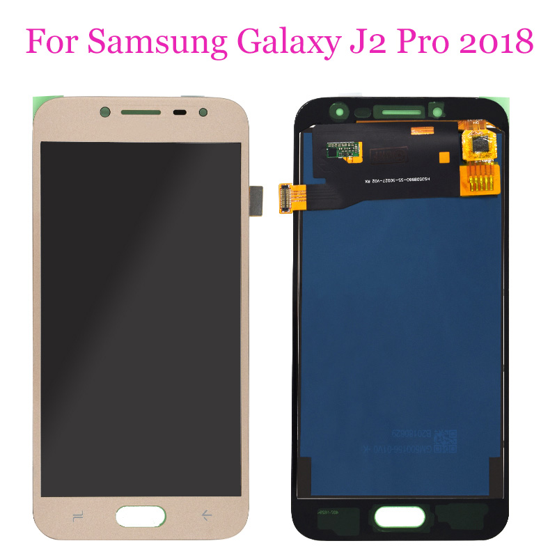 <font><b>J2</b></font> Pro For <font><b>Samsung</b></font> <font><b>Galaxy</b></font> <font><b>J2</b></font> Pro <font><b>2018</b></font> J250 <font><b>J250F</b></font> J250H <font><b>SM</b></font>-<font><b>J250F</b></font>/DS LCD Display + Touch Screen Digitizer Gold image