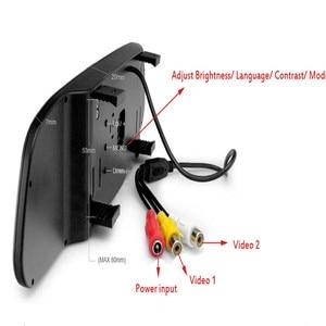 Image 4 - Podofo Auto Video HD Auto Monitor di Parcheggio, LED Night Vision Telecamera di Retromarcia CCD Auto Videocamera vista posteriore Con 4.3 pollici Retrovisore Auto Specchio