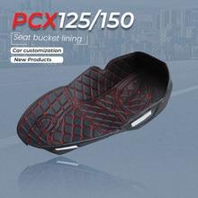Alfombrilla protectora para asiento de motocicleta, alfombrilla de almacenamiento para maletero trasero, para HONDA PCX 125 155 PCX125 PCX155