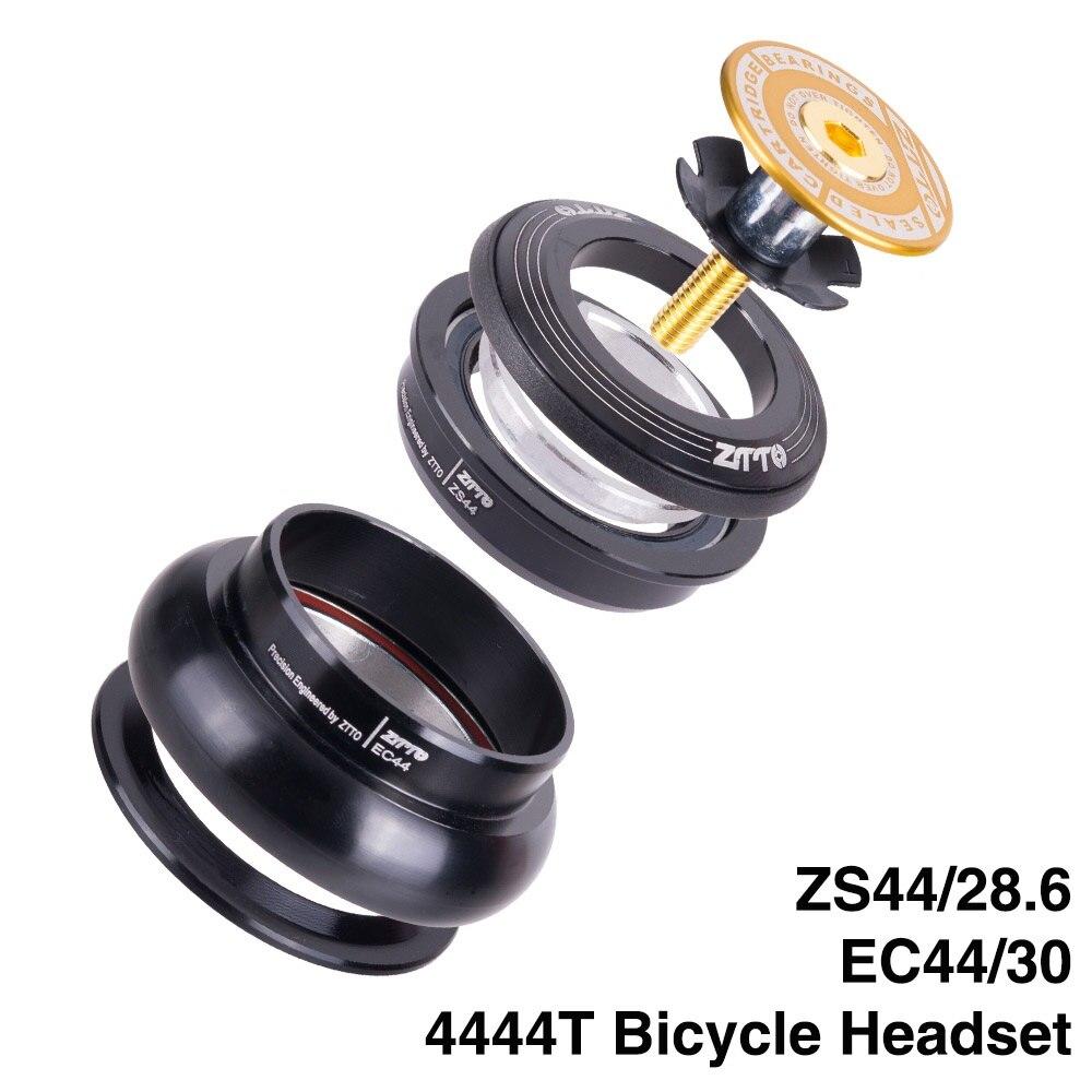 """4444 t mtb bicicleta de estrada da bicicleta fone de ouvido 44mm zs44 cnc 1 1/8 """"-1 1/2"""" 1.5 tubo afilado garfo interno sem rosca ec44 fone de ouvido"""